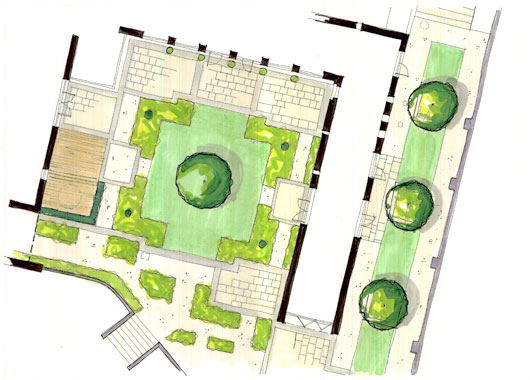 a complete garden design commission will evolve over several different stages listed below are the stages that a typical project will undertake - Garden Design Drawing